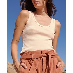 Amo Ribbed Cropped Tank Top found on MODAPINS from bloomingdales.com for USD $79.00