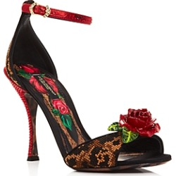 Dolce & Gabbana Women's Rose High-Heel Sandals found on Bargain Bro India from bloomingdales.com for $1545.00