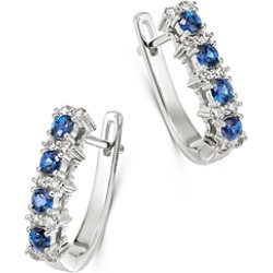 Bloomingdale's Diamond & Blue Sapphire Oval Hoop Earrings in 14K White Gold - 100% Exclusive found on Bargain Bro Philippines from Bloomingdales Canada for $1690.72