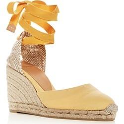 Castaner Women's Ankle-Tie Wedge Platform Espadrille Sandals