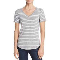 Majestic Filatures Striped Short-Sleeve V-Neck Tee found on Bargain Bro Philippines from bloomingdales.com for $138.00