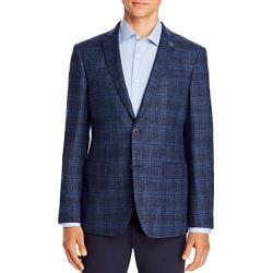 John Varvatos Star Usa Melange Plaid Slim Fit Sport Coat