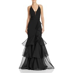 Aidan Mattox Tiered-Ruffle Crepe Gown found on MODAPINS from Bloomingdales UK for USD $523.67