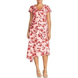 Adrianna Papell Plus Living Blooms Ruffle Trim Dress found on Bargain Bro India from Bloomingdales Canada for $93.84