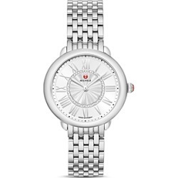Michele Serein Mid Stainless Diamond Dial Watch, 36mm found on MODAPINS from bloomingdales.com for USD $995.00