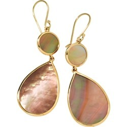Ippolita 18K Yellow Gold Polished Rock Candy Brown Shell Double Drop Earrings found on Bargain Bro India from bloomingdales.com for $875.00