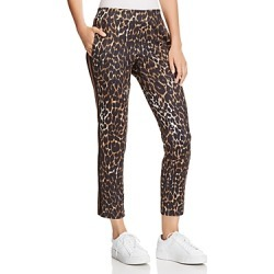 Pam & Gela Leopard Print Cropped Track Pants found on Bargain Bro India from bloomingdales.com for $225.00
