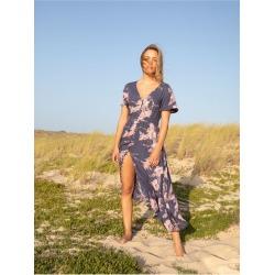 Bright Daylight Short Sleeve Maxi Dress found on Bargain Bro from Roxy for USD $49.40