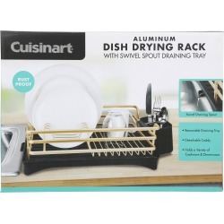 Aluminum Dish Drying Rack - Gold