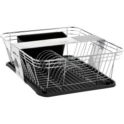 "14"" Dish Drying Rack - Metallic Silver"