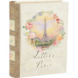 """11"""" Letters From Paris Storage Box"""