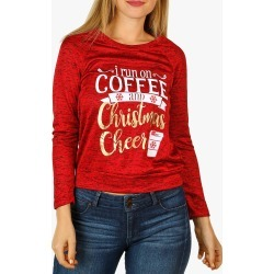 Women's Coffee Holiday Top - Red