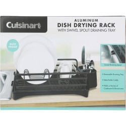 Aluminum Dish Drying Rack - Black