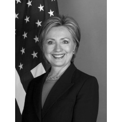 Canvas on Demand Poster Print 12 x 16 entitled Portrait of Secretary of State Hillary Clinton