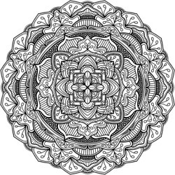 Canvas on Demand Poster Print 16 x 16 entitled Digital Mandala XI found on Bargain Bro Philippines from Canvas On Demand - Dynamic for $16.99