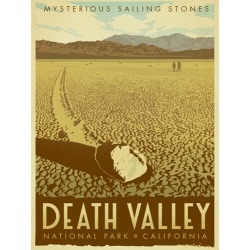 Canvas on Demand Poster Print 12 x 16 entitled Death Valley National Park, California - Retro Travel Poster