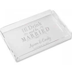 Personalized Eat, Drink and be Married Acrylic Tray found on Bargain Bro India from colorfulimages.com for $74.99