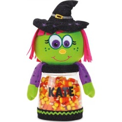 Personalized Halloween Witch Treat Jar found on Bargain Bro from colorfulimages.com for USD $18.99