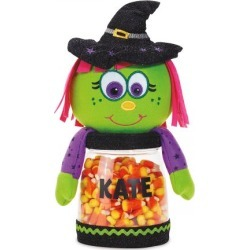 Personalized Halloween Witch Treat Jar found on Bargain Bro India from colorfulimages.com for $24.99