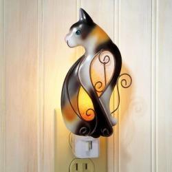Silhouette Cat Night Light