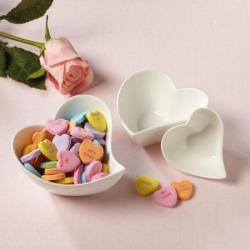 Porcelain Heart Sauce and Dip Set