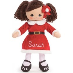 Custom Hispanic Rag Doll in Santa Dress found on Bargain Bro India from colorfulimages.com for $39.99