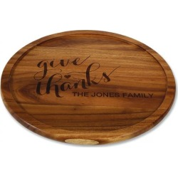 Give Thanks Custom Acacia Wood Lazy Susan found on Bargain Bro from colorfulimages.com for USD $34.19