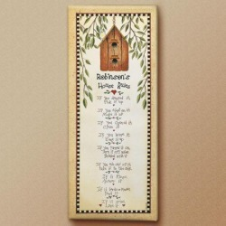 House Rules Personalized Canvas Print