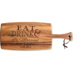 Custom Eat, Drink & Be Married Paddle Cutting Board found on Bargain Bro India from colorfulimages.com for $39.99