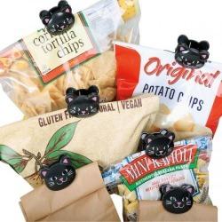 Black Cat Bag Clips