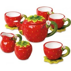 Strawberry Tea Set found on Bargain Bro India from colorfulimages.com for $24.99