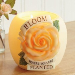 Bloom Where You Are Planted Votive Holder