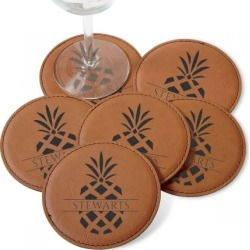 Custom Pineapple Coaster Set found on Bargain Bro India from colorfulimages.com for $24.99