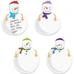 Diecut Snowmen Sticky Note Pads