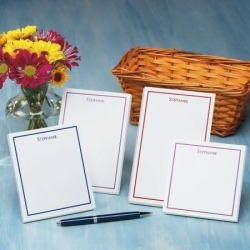 Personalized Note Pads in Basket