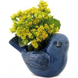 Blue Ceramic Bird Planter found on Bargain Bro India from colorfulimages.com for $24.99