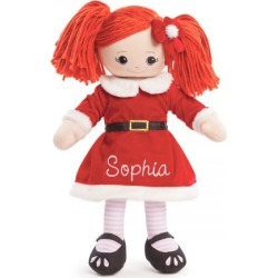Custom Red-Hair Rag Doll in Santa Dress found on Bargain Bro India from colorfulimages.com for $39.99
