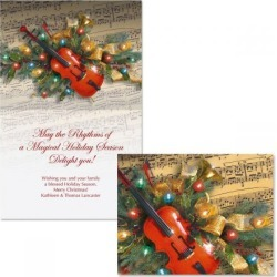 Christmas Music Note Card Size Christmas Cards