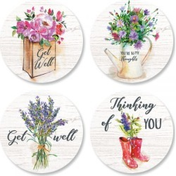 Bouquets Seals (4 Designs) found on Bargain Bro India from colorfulimages.com for $2.29