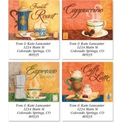 Coffee House Select Return Address Labels (4 Designs)
