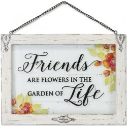 Friends Flowers Life Plaque found on Bargain Bro India from colorfulimages.com for $21.99