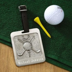 Pewter Personalized Golf Bag Tag found on Bargain Bro from colorfulimages.com for USD $13.67
