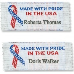 Made With Pride In The USA Personalized Sewing Labels found on Bargain Bro India from colorfulimages.com for $21.99