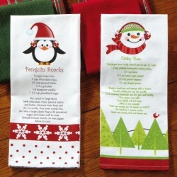 Christmas Recipe Kitchen Towels