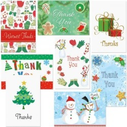 Holiday Thank You Note Card Value Pack