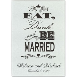 Eat, Drink, and Be Married Custom Glass Cutting Board found on Bargain Bro India from colorfulimages.com for $18.99
