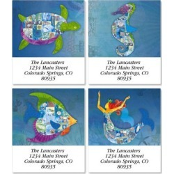 Patchwork Undersea Select Return Address Labels (4 Designs) found on Bargain Bro Philippines from colorfulimages.com for $8.99