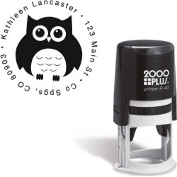Owl Round Address Stamp found on Bargain Bro Philippines from colorfulimages.com for $22.99