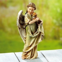 Angel with Puppy Statue found on Bargain Bro India from colorfulimages.com for $32.99