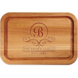 Alder Flourish Scroll Custom Wood Cutting Board found on Bargain Bro India from colorfulimages.com for $44.99
